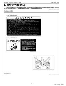 Kubota B3030HSDC manual