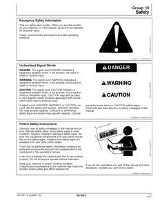 John Deere Z740R manual pdf