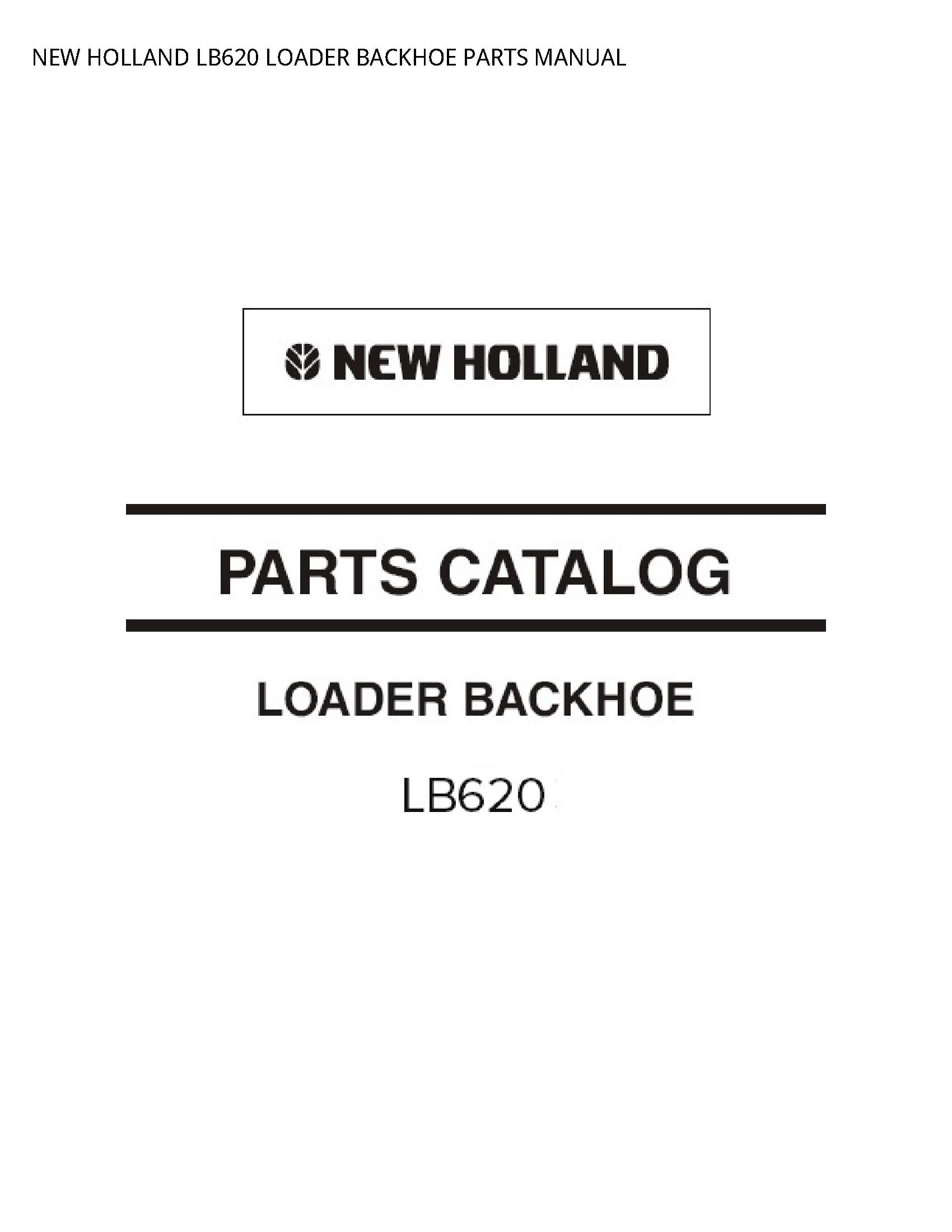 New Holland LB620 LOADER BACKHOE PARTS manual