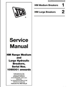 JCB HM Range Medium  Large Hydraulic Breakers manual