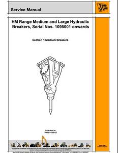 JCB HM Range Medium  Large Hydraulic Breakers service manual