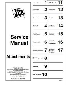 JCB Attachments manual