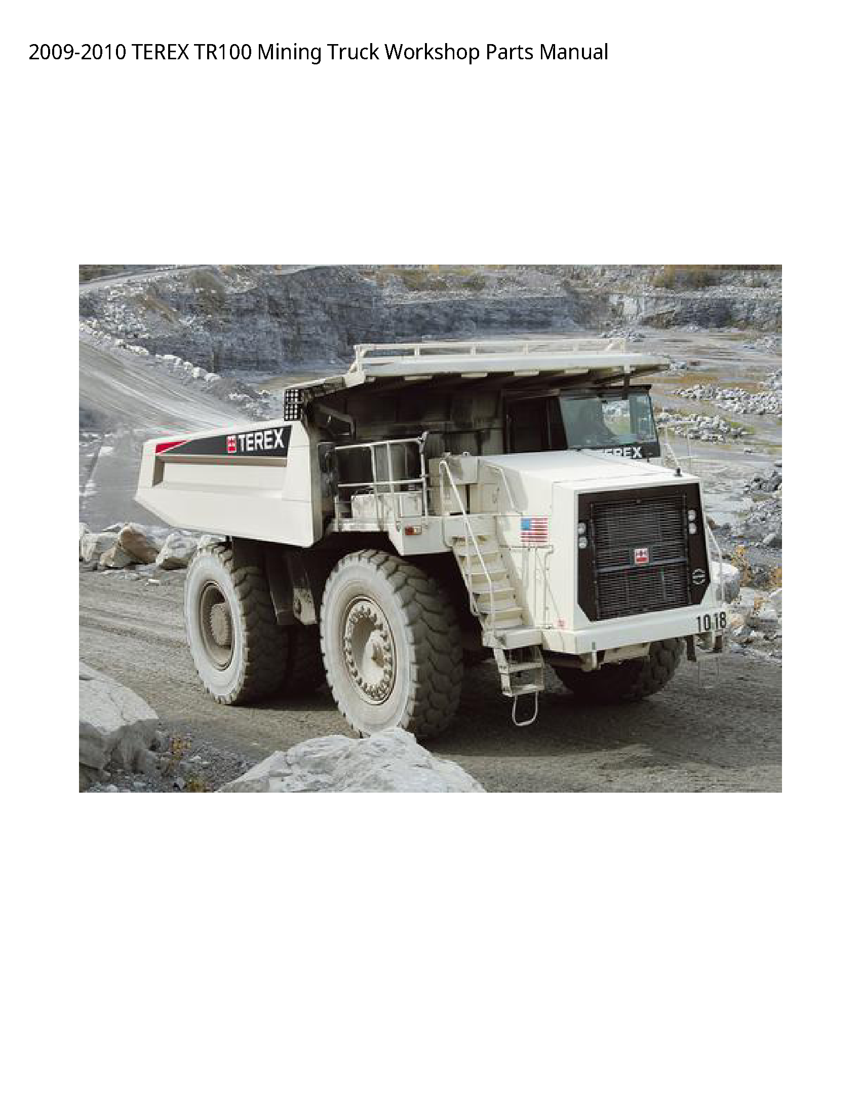 Terex TR100 Mining Truck Parts manual