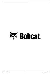 Bobcat T2250 Telescopic Handler manual