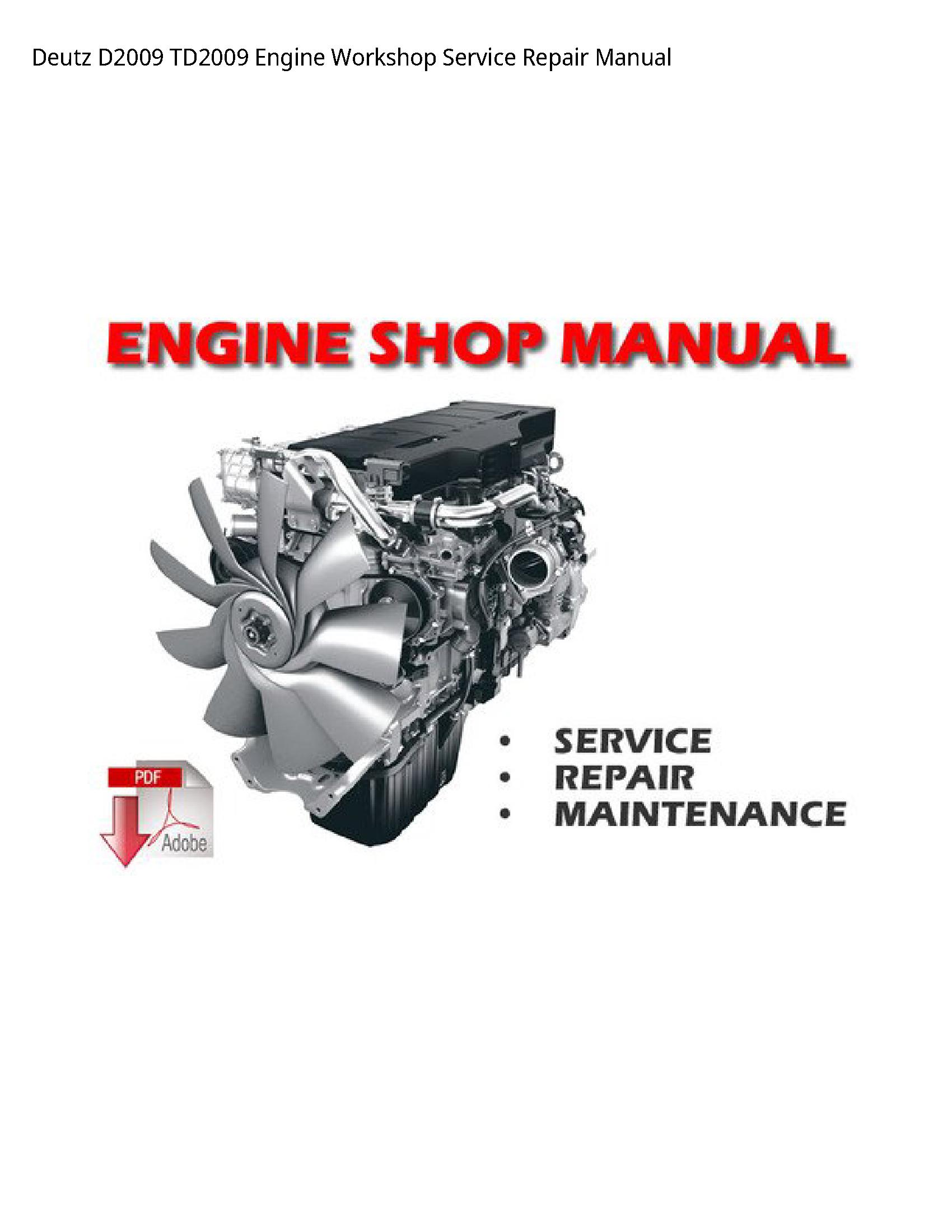 Deutz D2009 Engine manual